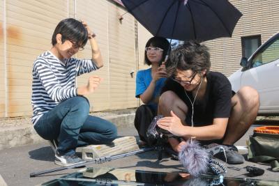 子どもたちも「空蝉crush」に協力。何に生まれ変わりたいのか悩みながら叫んだ