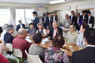 吉野復興相が石巻市視察 聖火リレー出発地を支持