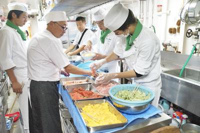 宮水高 調理類型 宮城丸船内で食事作り体験 現場に立って分かること