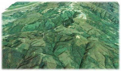 県内最大規模の風力発電所建設 籠峰山から上品山の尾根沿い 31年12月運転開始