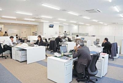 2階に事務機能を集約した新会館