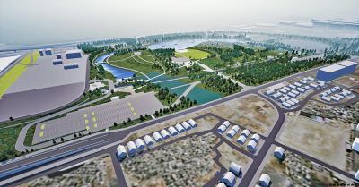 石巻南浜津波復興祈念公園 中核施設の基本設計案提示 全方位に向く象徴的円形屋根