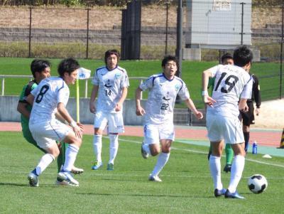 コバルトーレ女川 やった!JFL初勝利 滋賀に1―0 エース吉田のゴール守り抜く