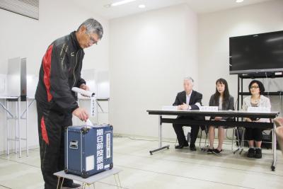 期日前投票もスタート 石巻専修大 14日限定開設 若者の選挙周知にひと役