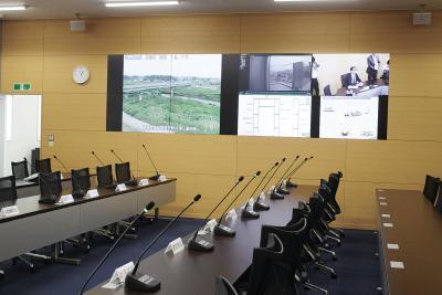 3階に設けられた災害対策本部室