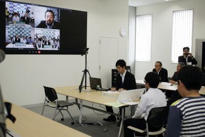 子ども防災サミット 新設センターで学ぶ事前の備え テレビ会議で意見交換活発 石巻、狛江、芦屋市