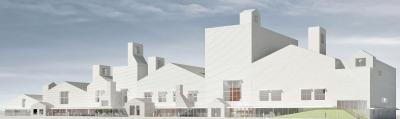 石巻市複合文化施設 外観一部変更し9月着工 新施設で震災10年の追悼式 33年3月に開館予定