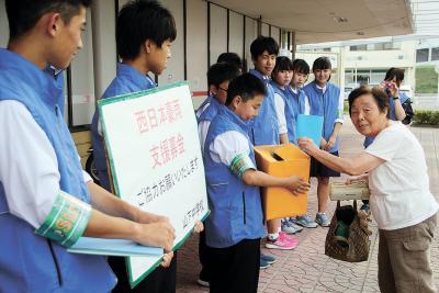 西日本豪雨で街頭募金 広がる支え合いの輪 被災地支援 今度は石巻の番