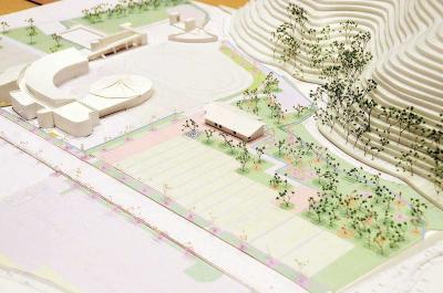 震災遺構の大川小旧校舎 事実と向き合い考える場に 石巻市が基本設計案説明 見学者の 避難先も明示