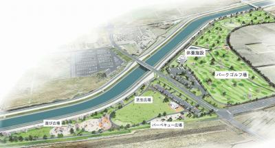 東松島市 矢本海浜緑地4月26日開園 県最大規模のパークゴルフ場完備 西地区に 公園機能充実
