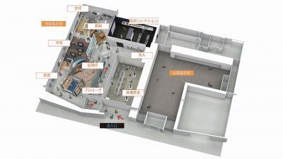常設・企画展示室の全体利用イメージ