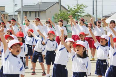 運動会シーズン到来 湊は初の小中合同開催 青空に響く歓喜と声援