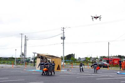 東松島市総合防災訓練 空自 ドローンで要救助者捜索 教訓つなぎ減災へ連携