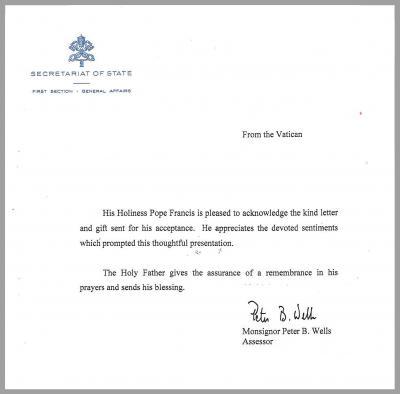 大使館を通じて届けられた手紙