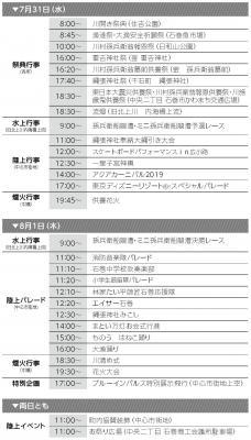 第96回 石巻川開き祭りスケジュール