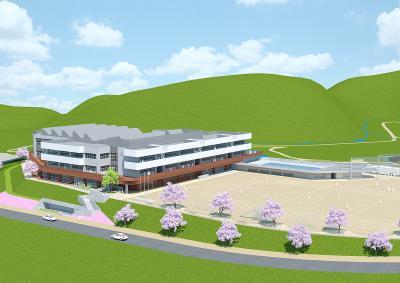 新校舎の完成予想図