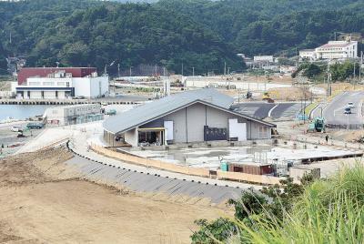 にぎわいの拠点エリア 来月4日一部オープン 愛称は「ホエールタウンおしか」 観光物産施設など完成