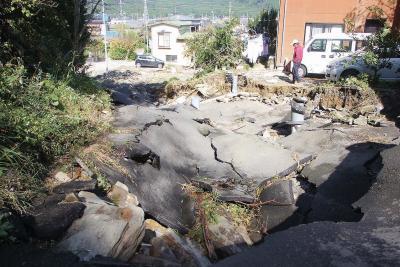 稲井地区の滝ノ口では5年前の豪雨...