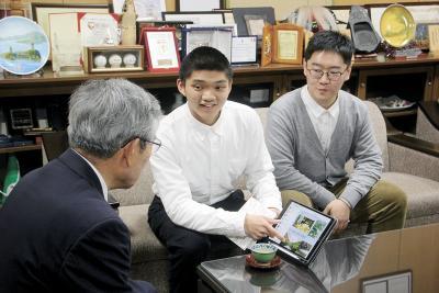 友好都市・温州市から 石巻専修大に2人留学 「中国で日本語の先生に」