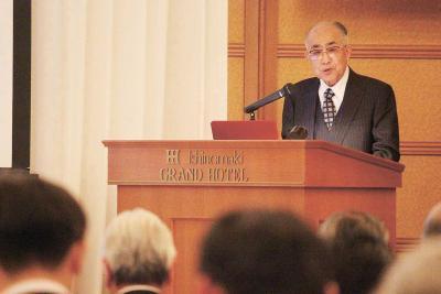 石巻法人会講演で阿部氏 二代日銀総裁・富田鐡之助の半生 偉業は地元での少年期基礎