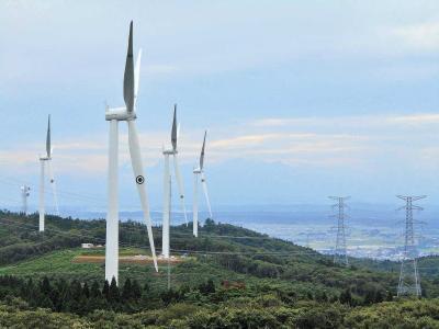 石巻の良好な風を生かした風力発電...